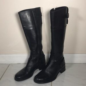 Aldo Learher Women's Tall riding Boots Black 6